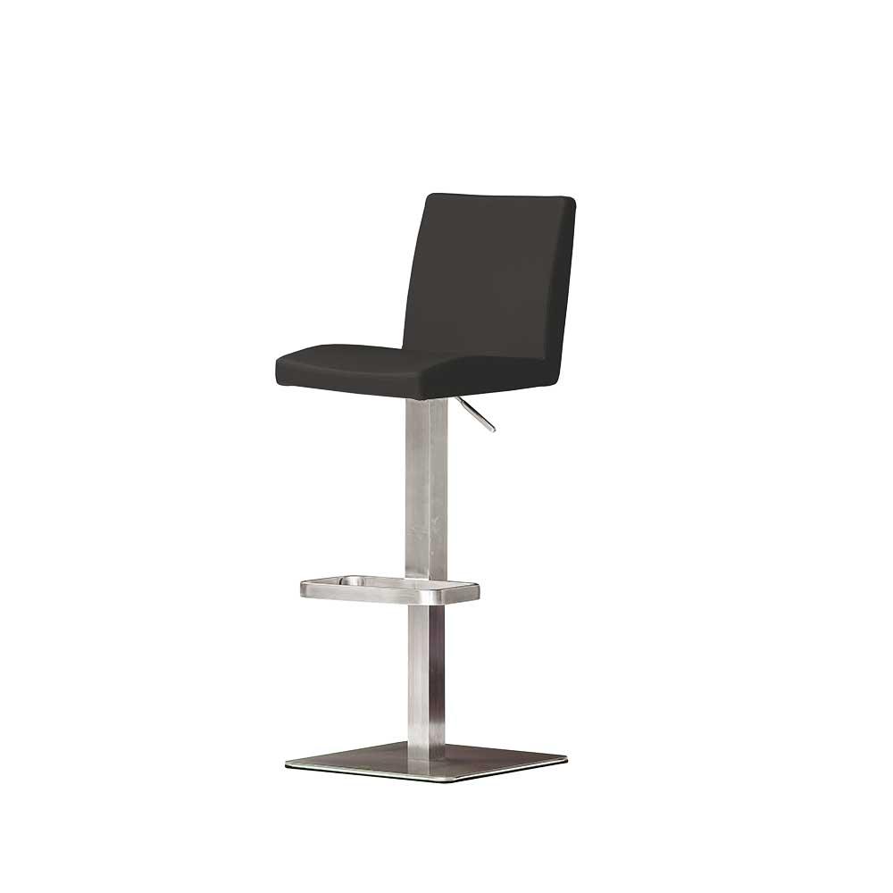Küchenhocker mit Rückenlehne höhenverstellbar | Küche und Esszimmer > Stühle und Hocker > Küchenhocker | TopDesign