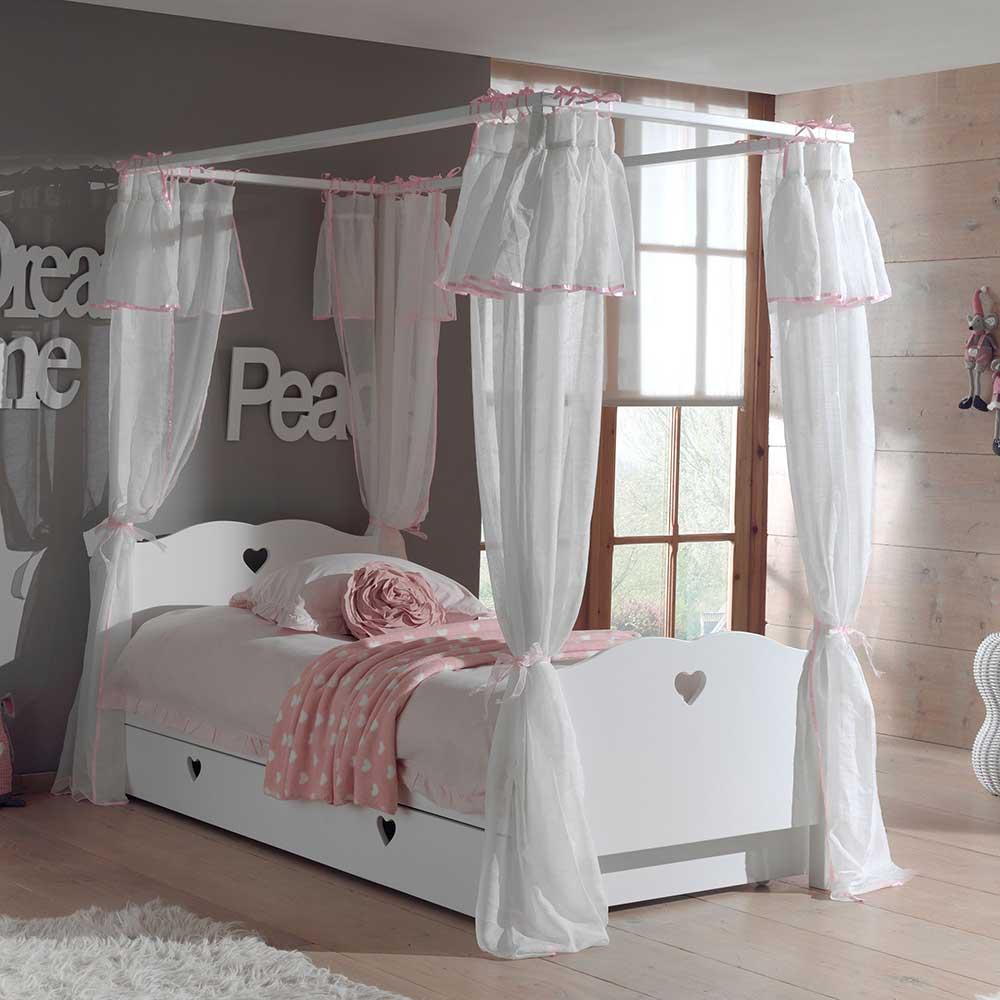 Himmelbett in Weiß Kinderzimmer   Kinderzimmer > Kinderbetten > Baldachine & Tunnels   Weiß   Holzwerkstoff   4Home