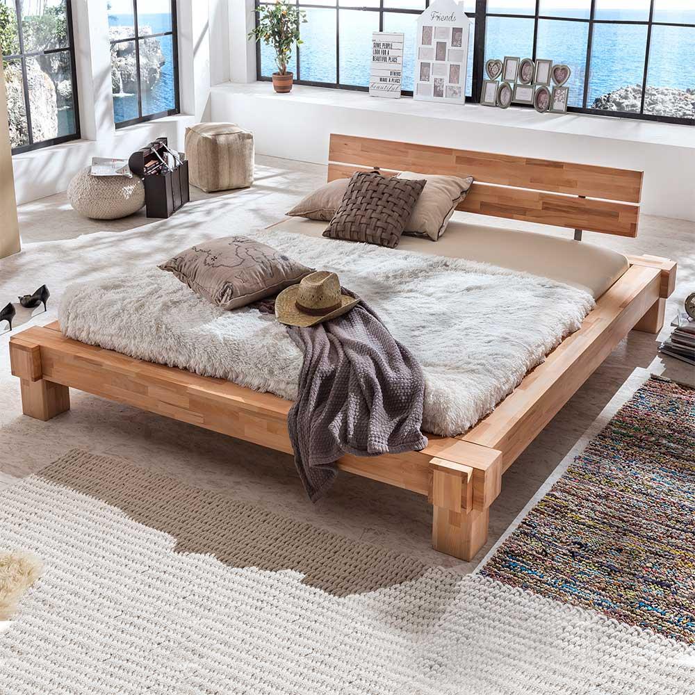Massivholz Futonbett aus Kernbuche geölt | Schlafzimmer > Betten > Futonbetten | Basilicana