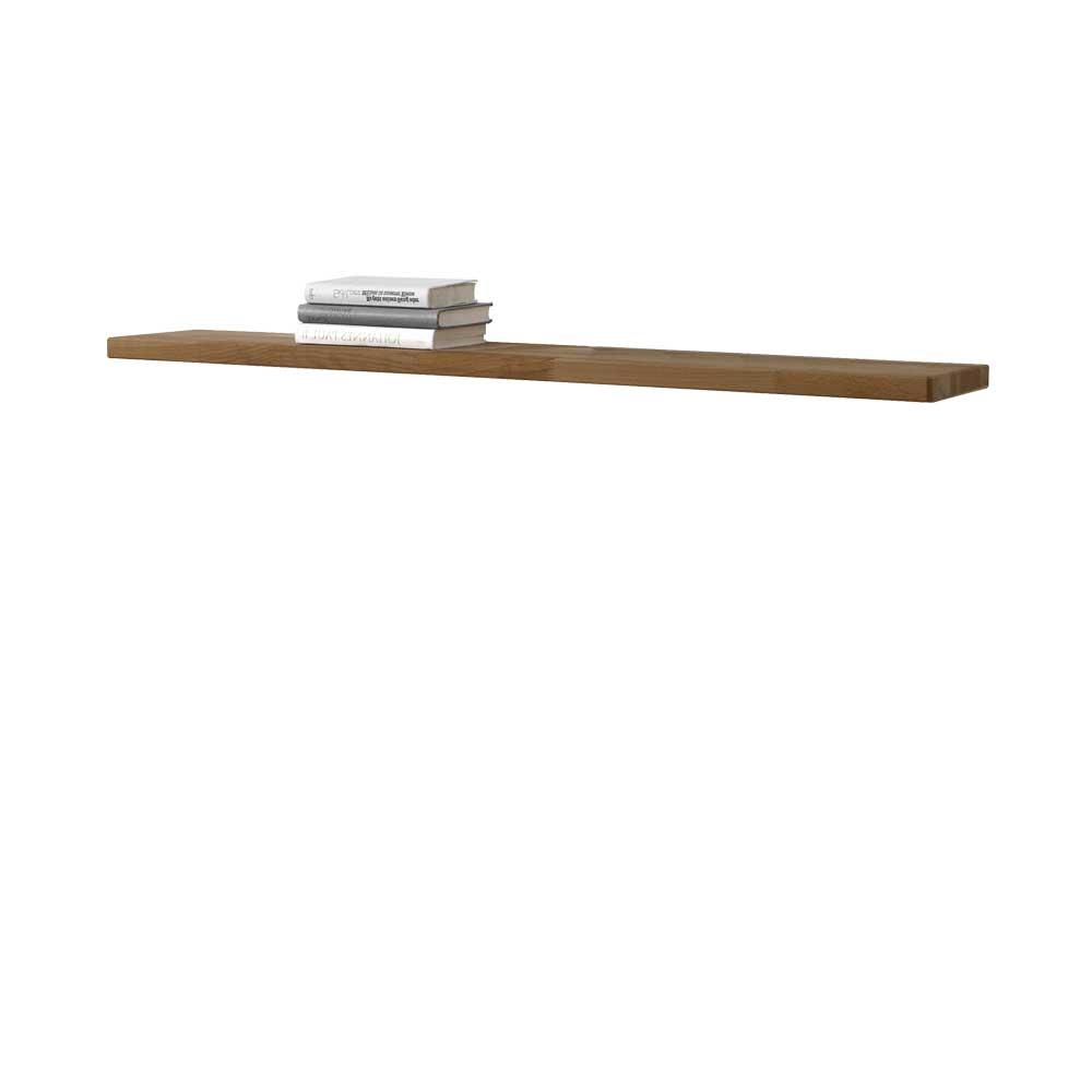 Wandregal aus Wildeiche Massivholz 120 cm