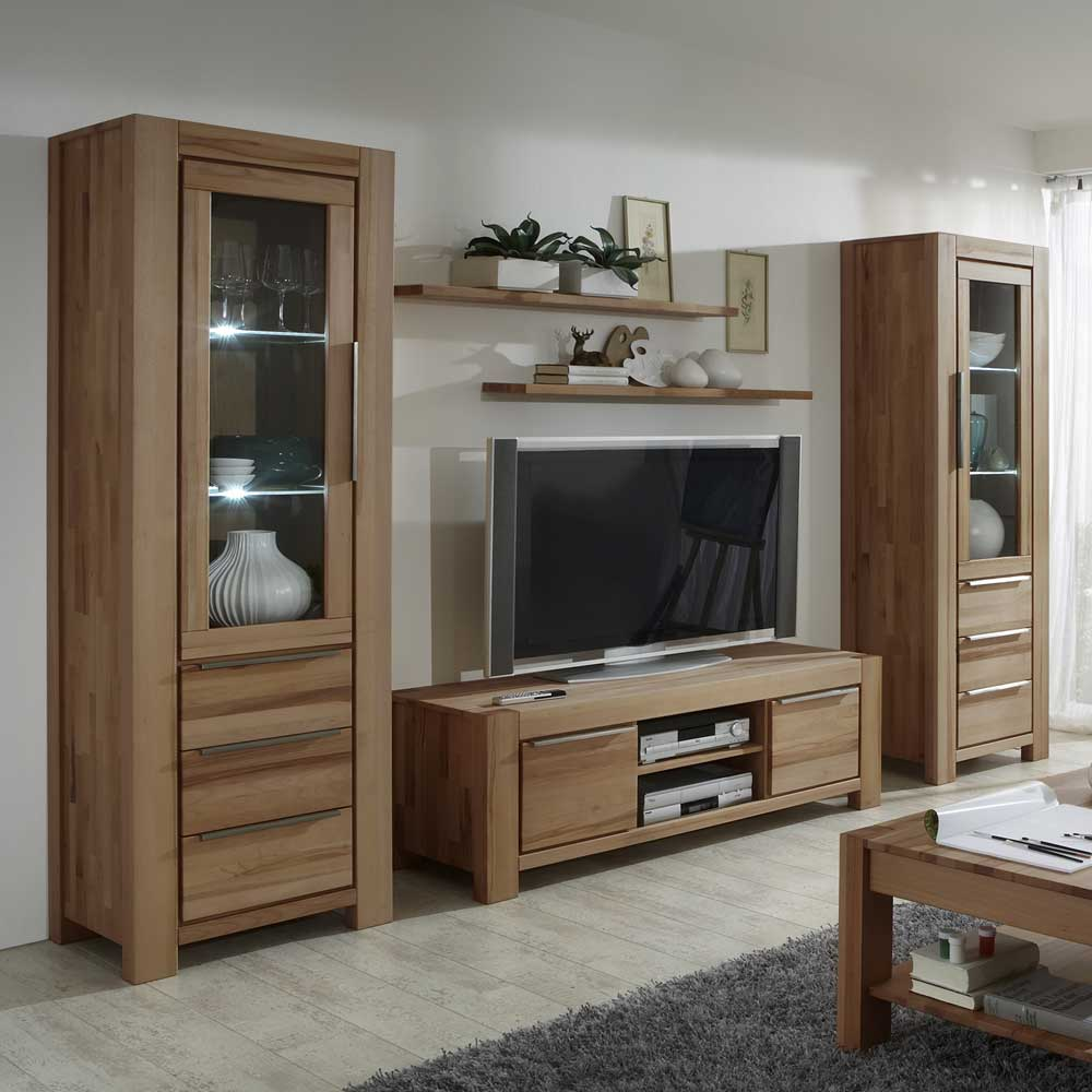 schrankwand fuer wohnzimmer sonoma eiche braun 4 teilig 869 b2b trade. Black Bedroom Furniture Sets. Home Design Ideas