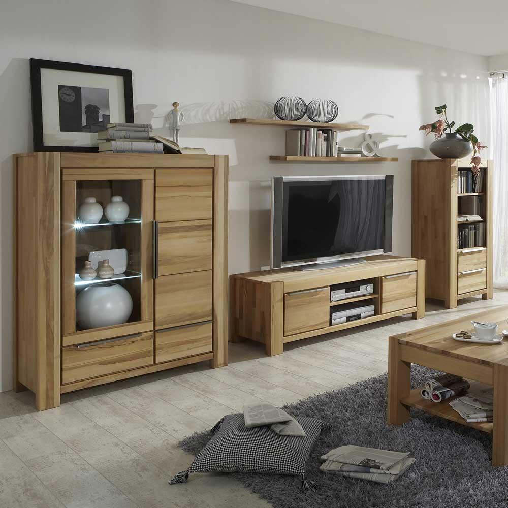Wohnzimmer schrankwand massivholz for Schrankwand wohnzimmer klassisch