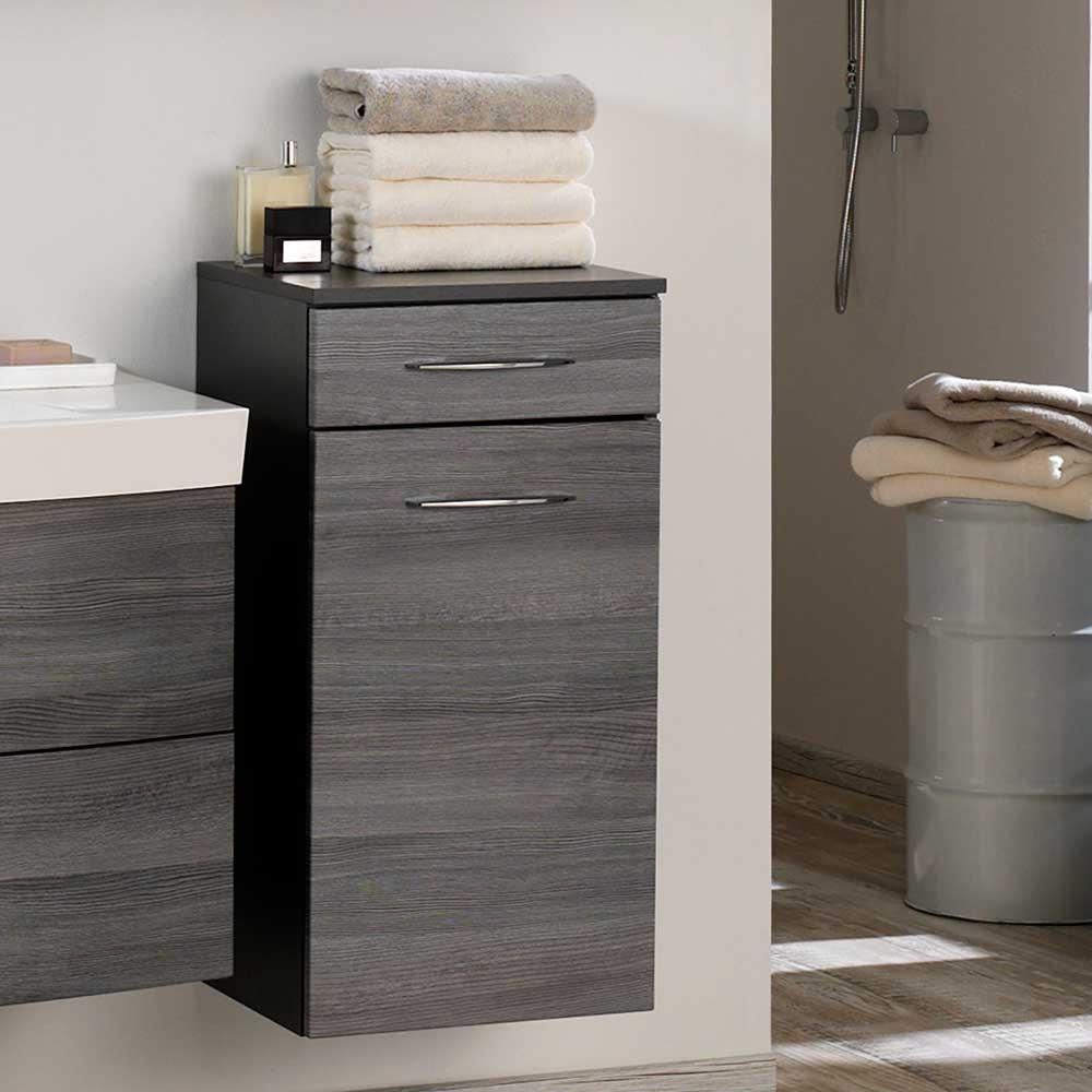 Bad unterschrank grau  Waschbeckenunterschrank Schublade Grau: Waschtisch stehend 80 ...