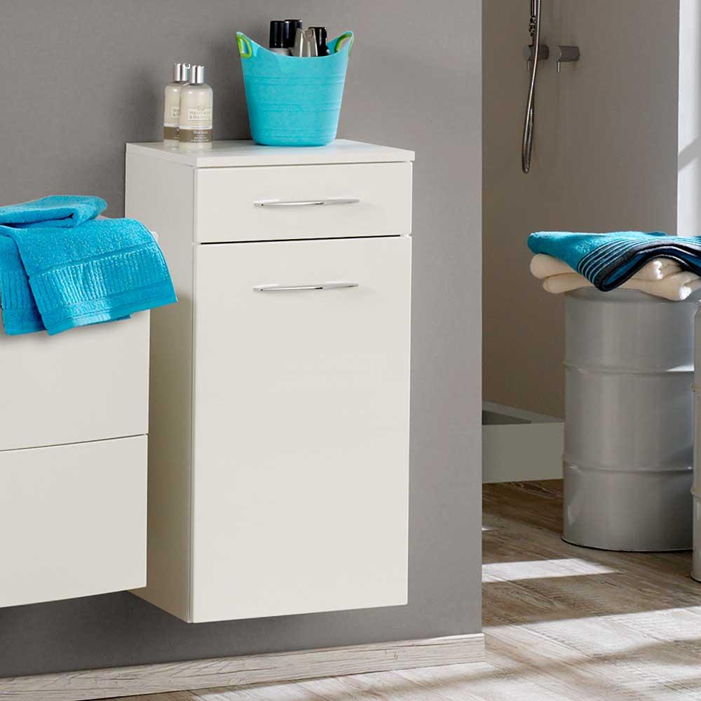 Badezimmer Unterschrank in Hochglanz Weiß 40 cm   Bad > Badmöbel > Waschbeckenunterschränke   Weiß   Holzwerkstoff   Star Möbel
