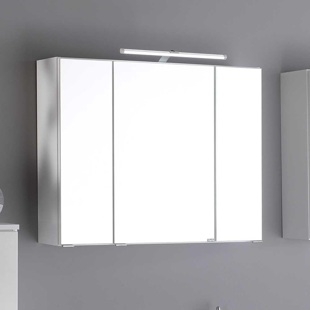 Bad Spiegelschrank in Weiß 3D Effekt   Bad > Spiegel fürs Bad > Badspiegel   Star Möbel