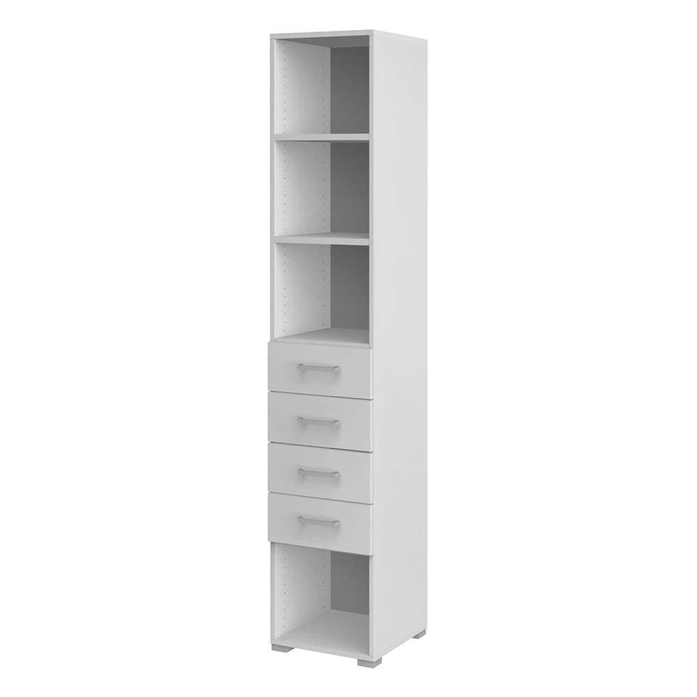 Büroregal mit Schubladen Weiß | Büro > Büroregale | Weiß | Holzwerkstoff | Spirinha