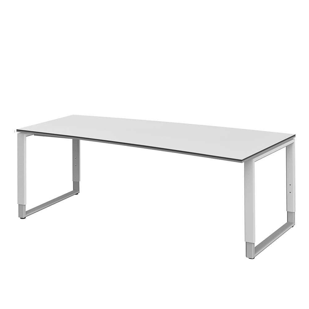 Computertisch in Weiß höhenverstellbar
