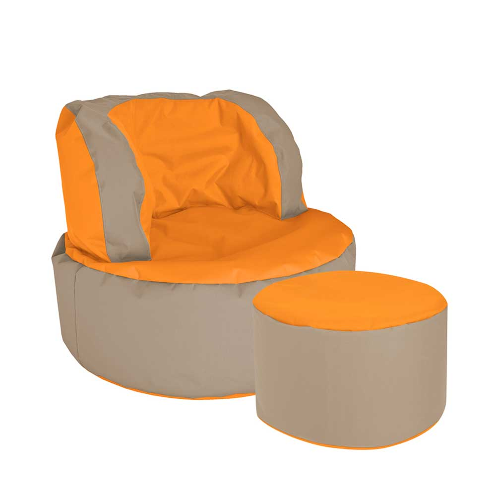 Sitzsack in Orange Beige als Sessel