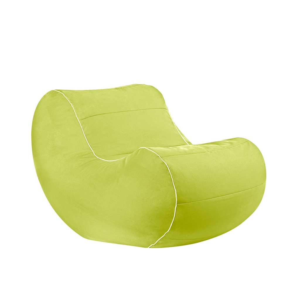 Jugendzimmer Sitzsack als Sessel Hellgrün