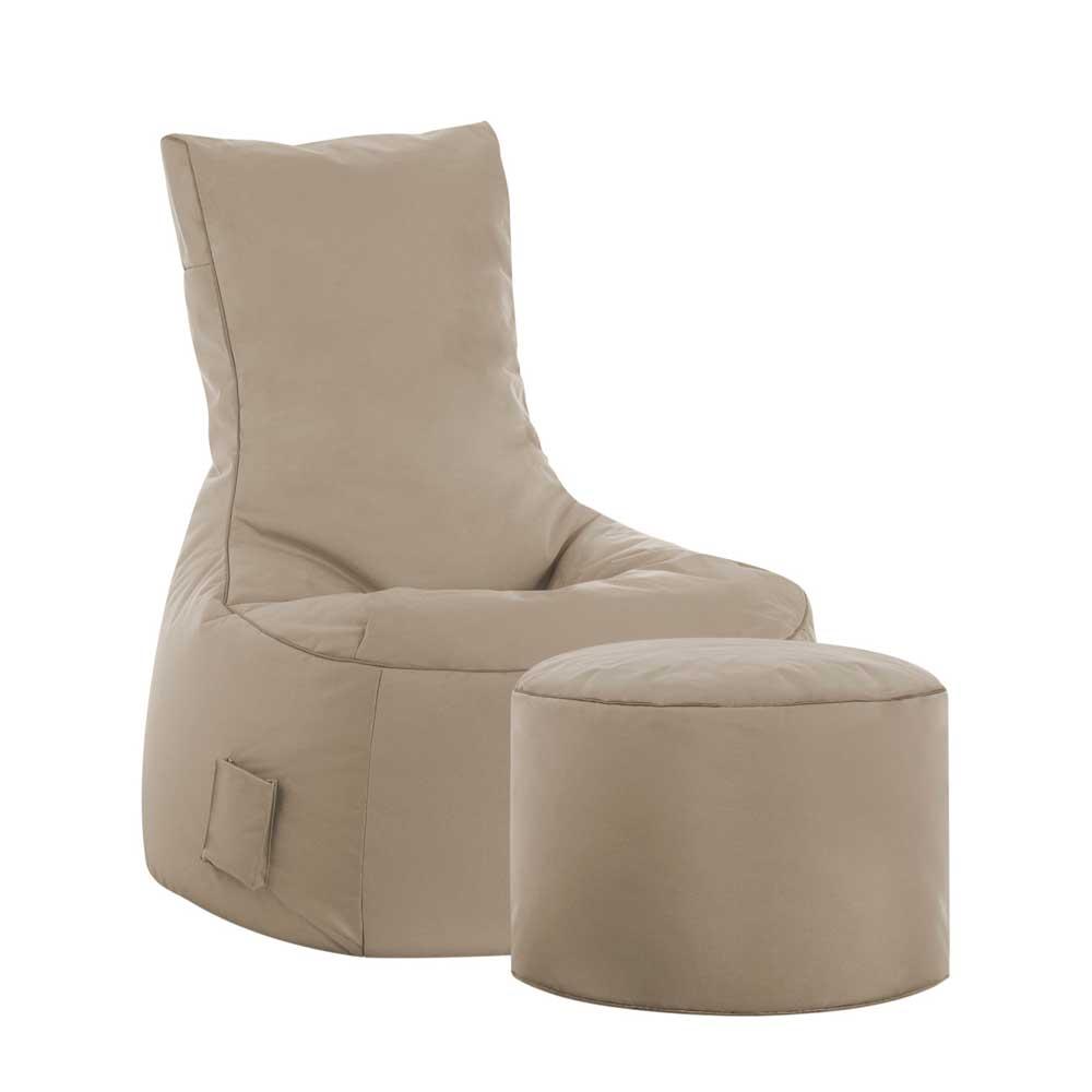 Sessel als Sitzsack Khaki