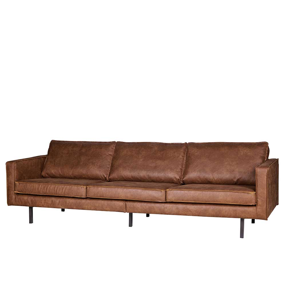 Couch aus Recyceltem Leder Braun