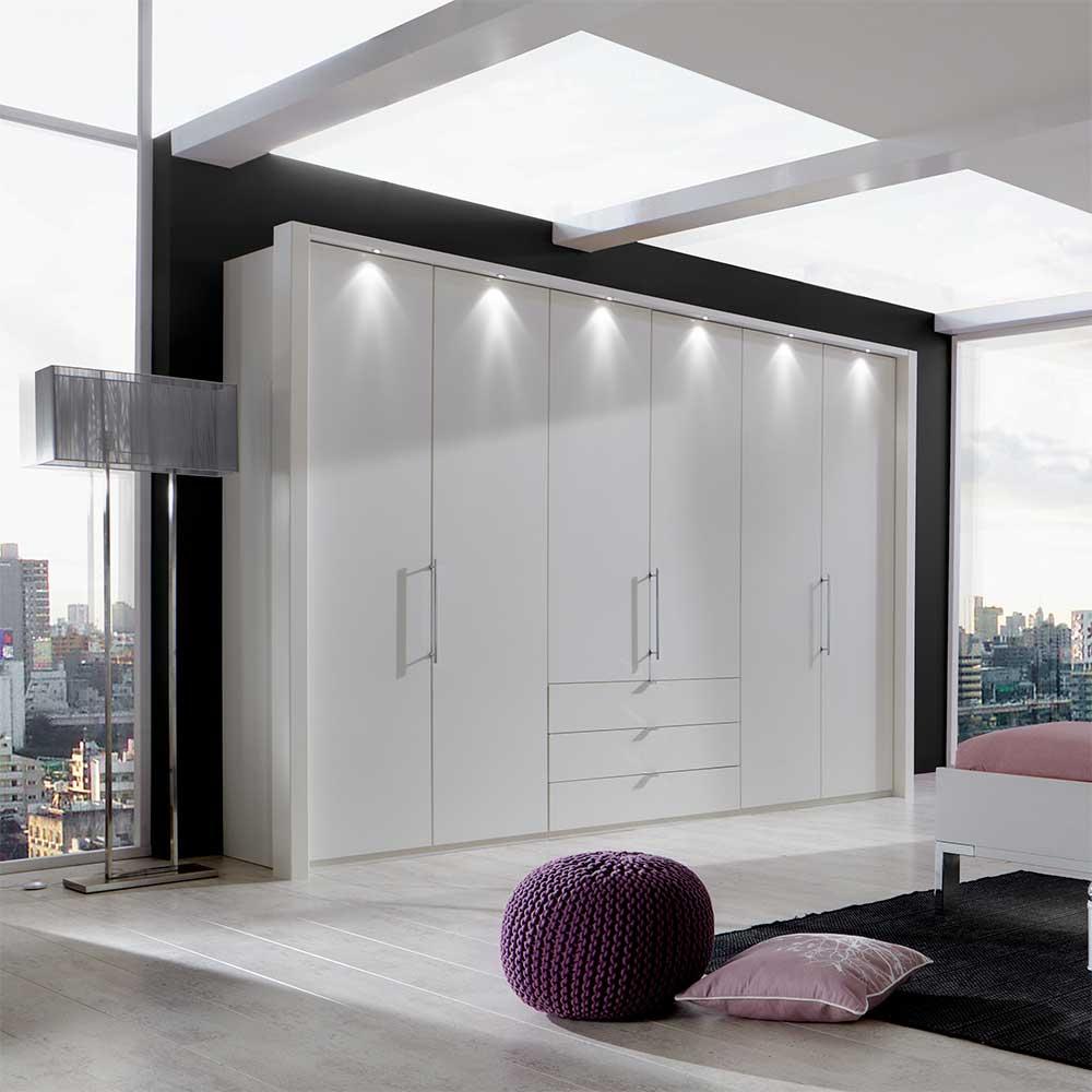 Kleiderschrank mit Falttüren LED Beleuchtung