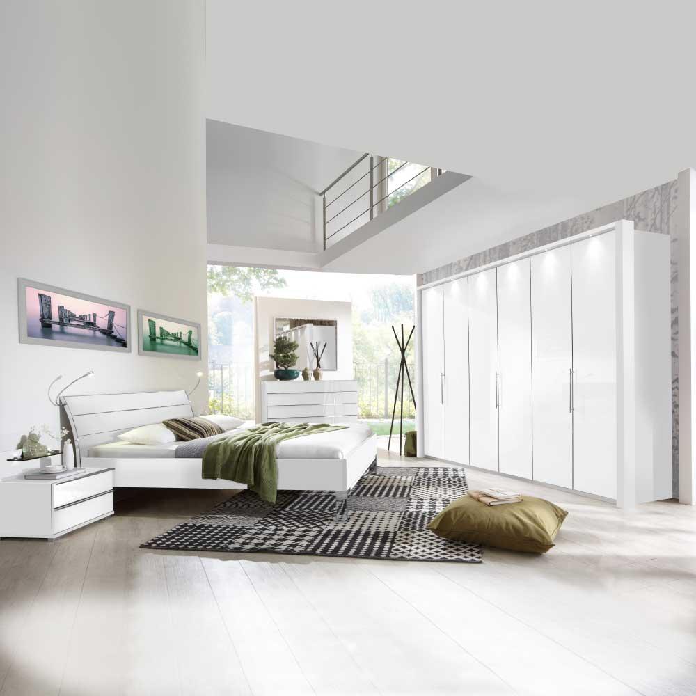 Schlafzimmerset in Weiß komplett (sechsteilig)