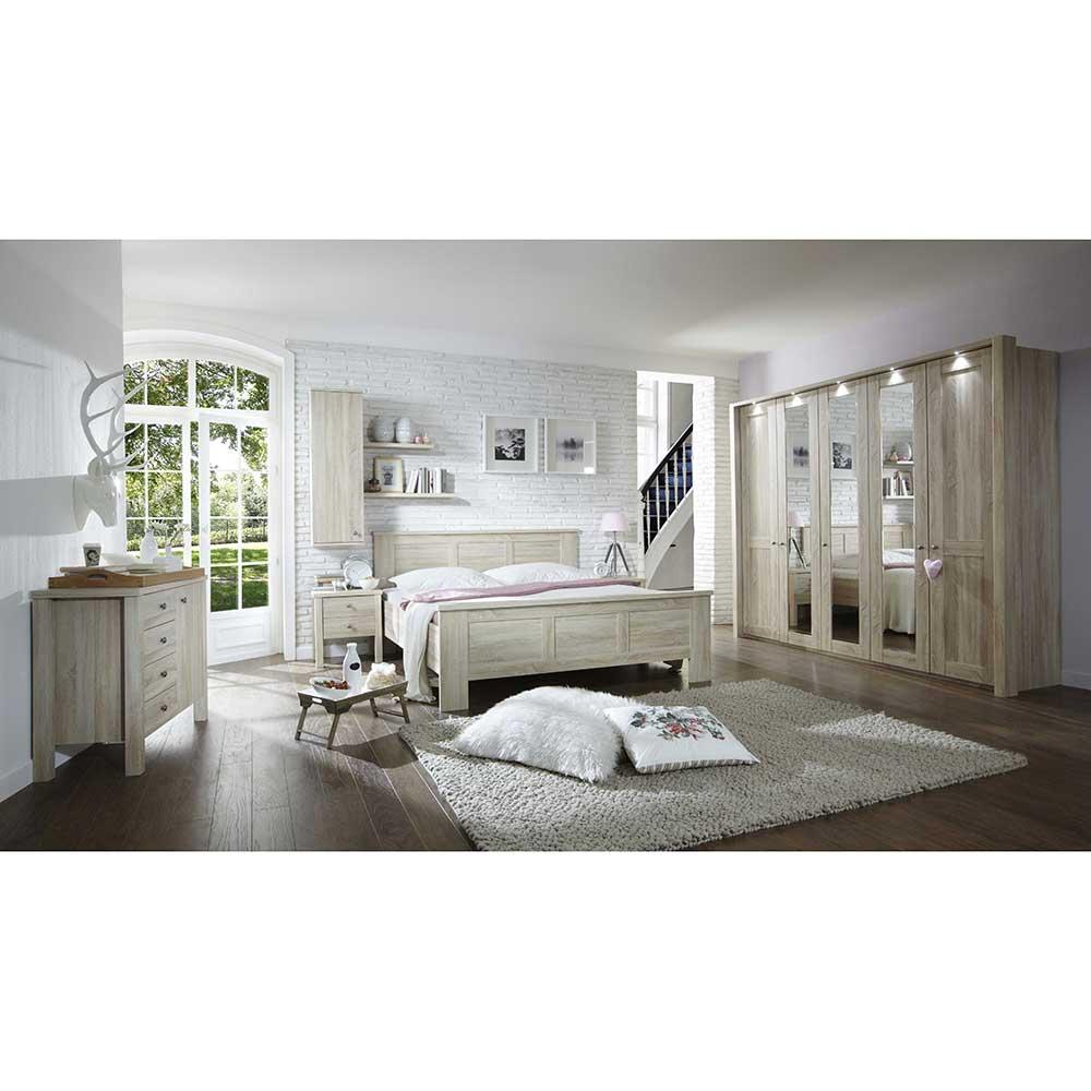 Schlafzimmer Komplettset in Eiche Sägerau online kaufen (8-teilig)