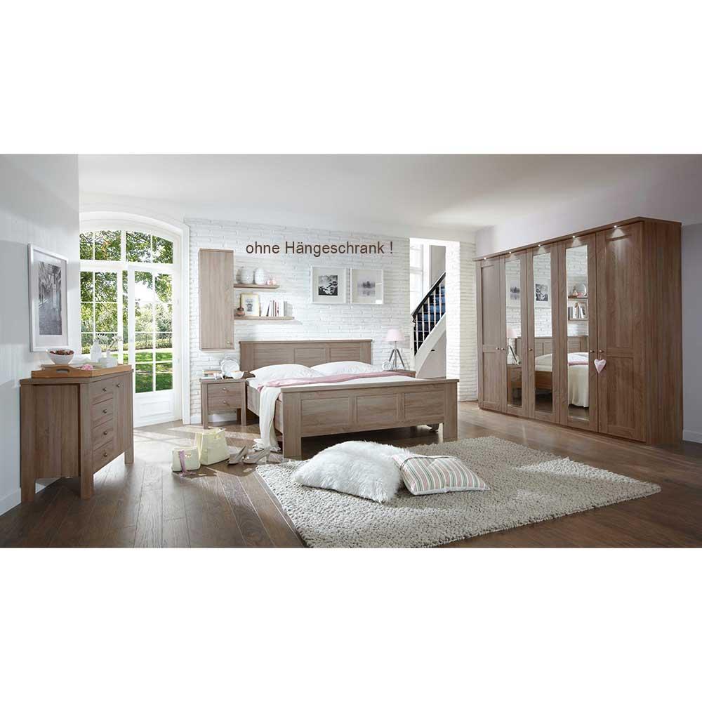Schlafzimmer Set in Eiche Trüffel komplett (5-teilig)