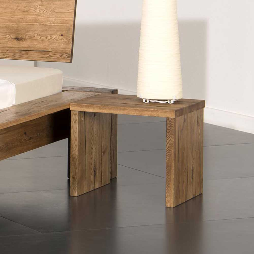 Nachttisch aus Eiche Massivholz 40 cm | Schlafzimmer > Nachttische | Eiche - Massivholz - Massiv - Holz - Geölt | Life Meubles