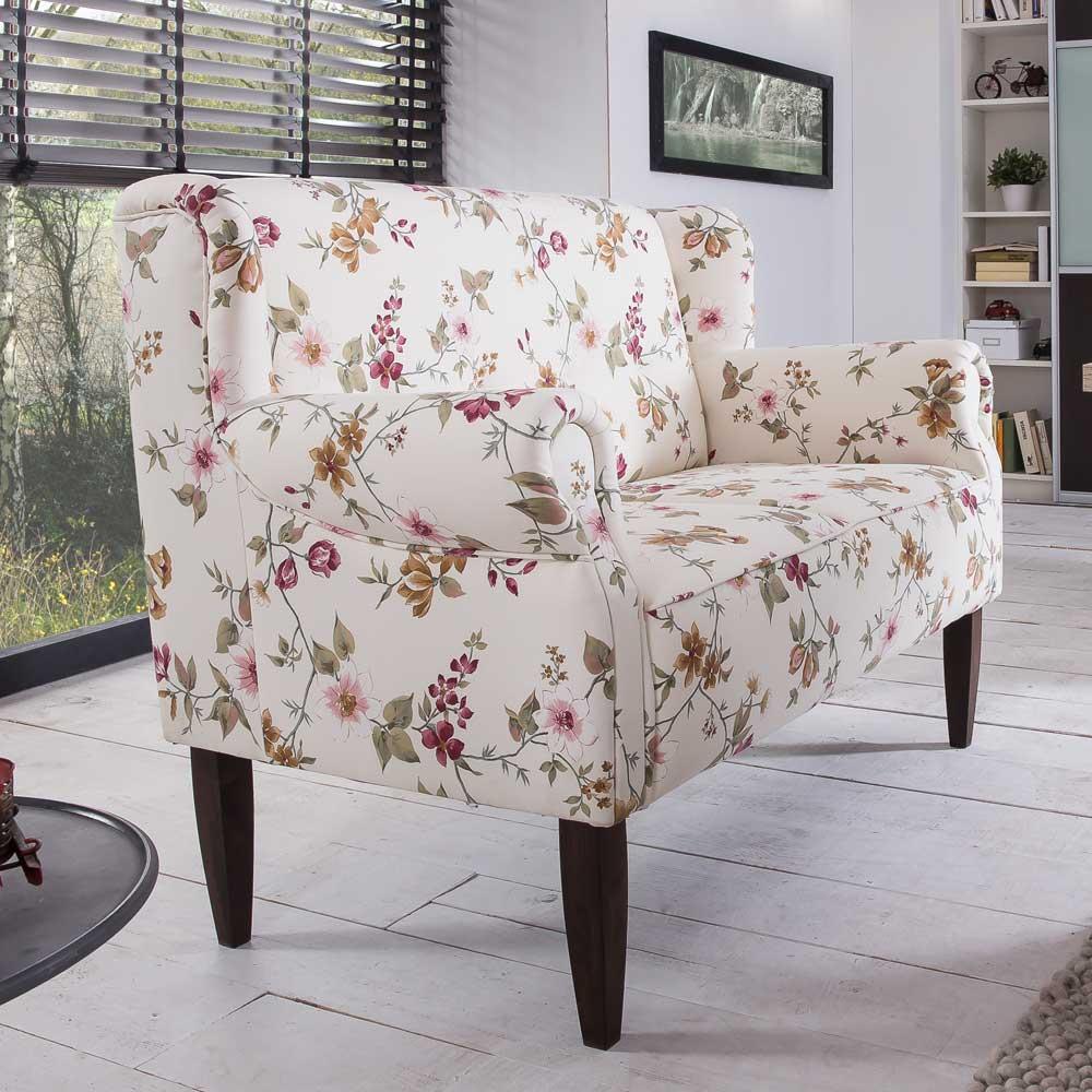 2 Sitzer Sofa mit Blumenmuster Landhaus