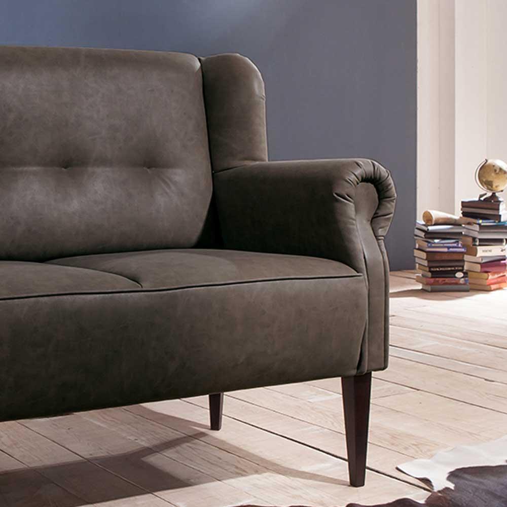 2 Sitzer Couch in Grau Landhaus