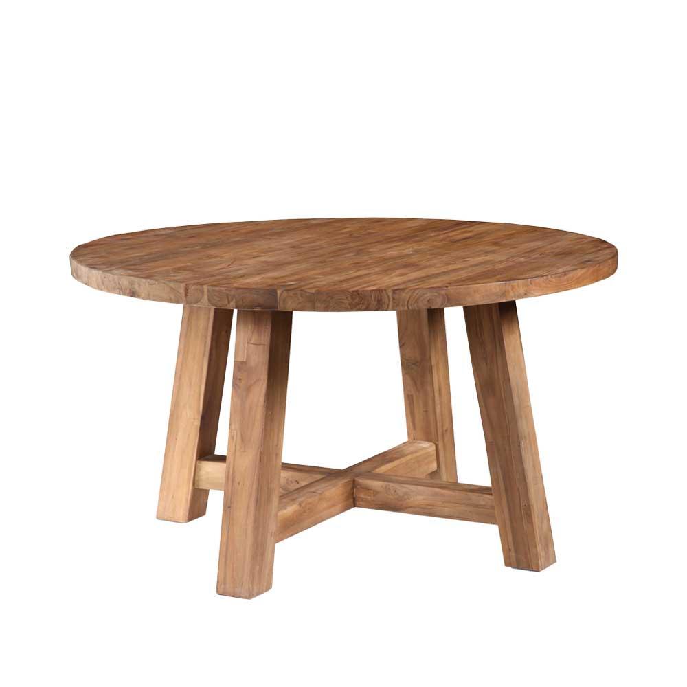 Esszimmertisch aus Teak Massivholz Rund