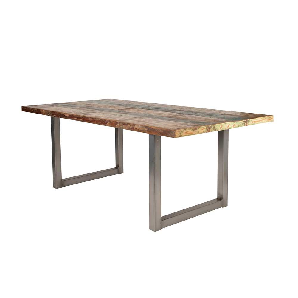 Design Esstisch in Bunt Recyclingholz