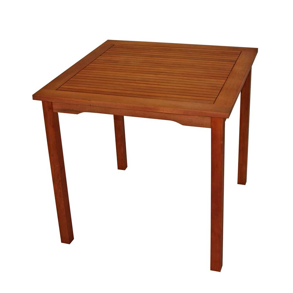 Tisch aus Eukalyptusholz 80 cm breit