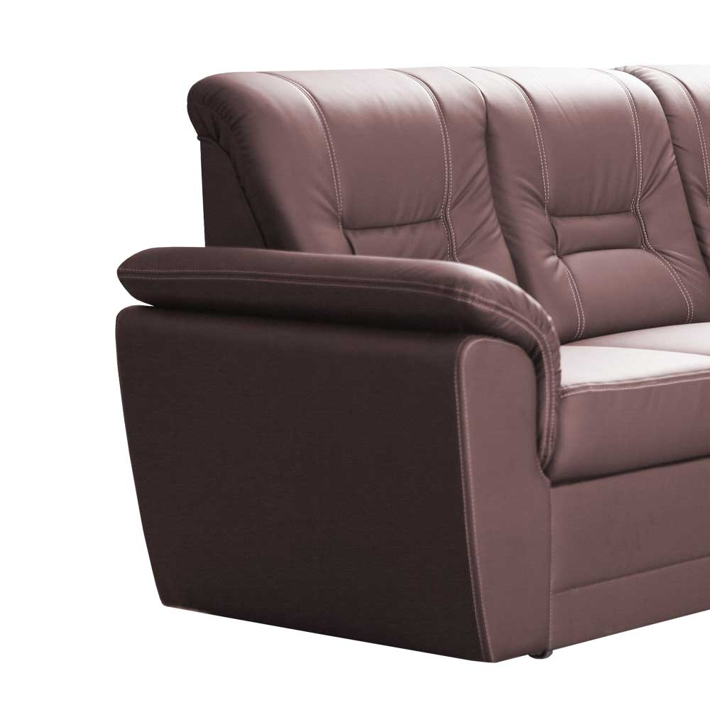 Schlafcouch mit Relaxfunktion Dunkelbraun
