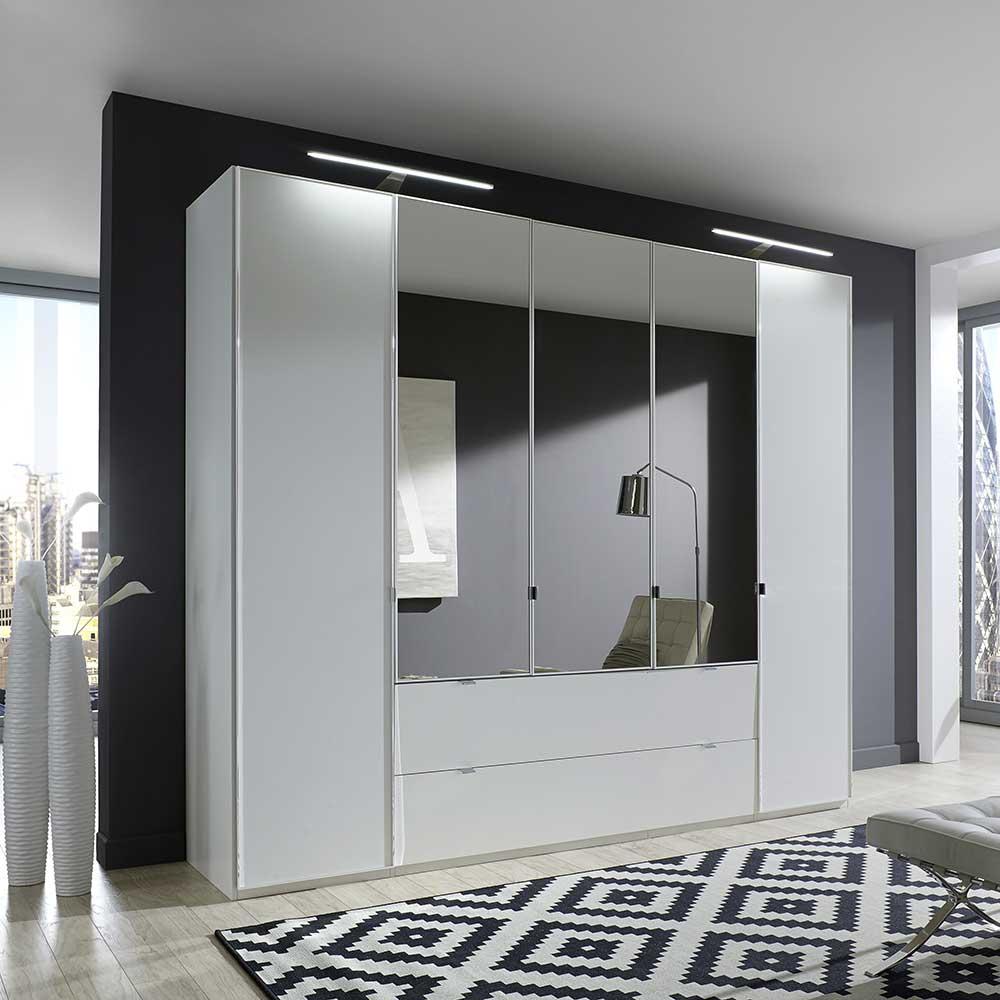 Kleiderschrank in Weiß 250 cm breit