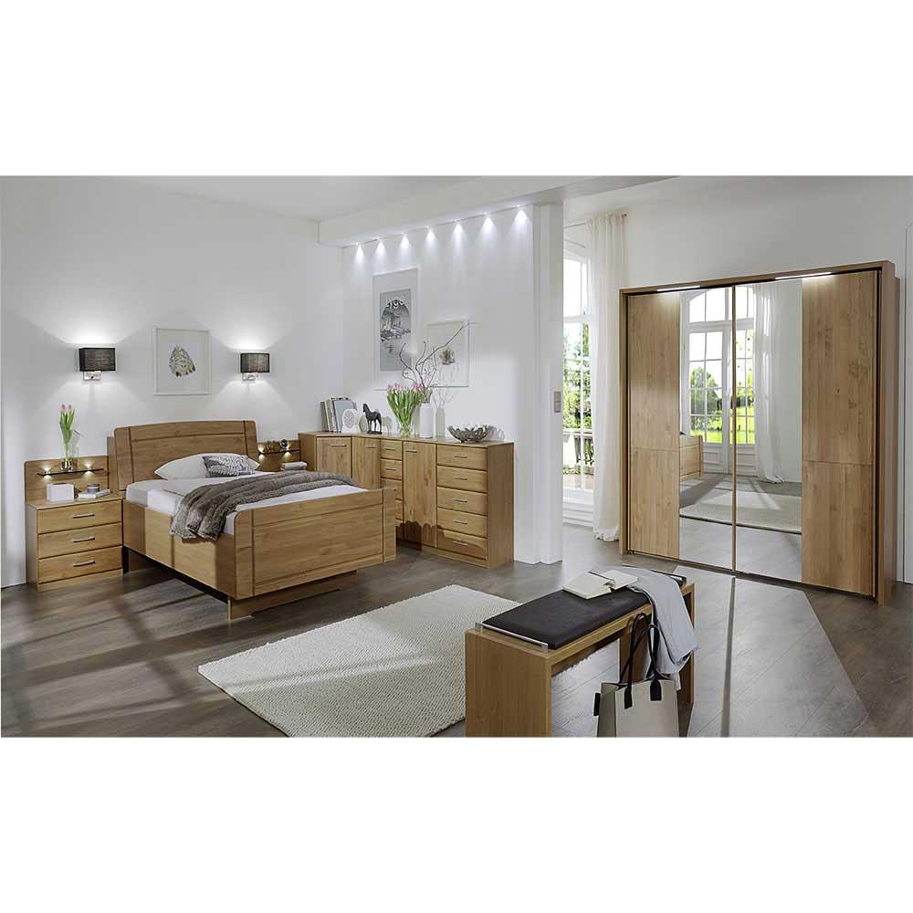 Komplett Schlafzimmer aus Erle online kaufen (8-teilig)