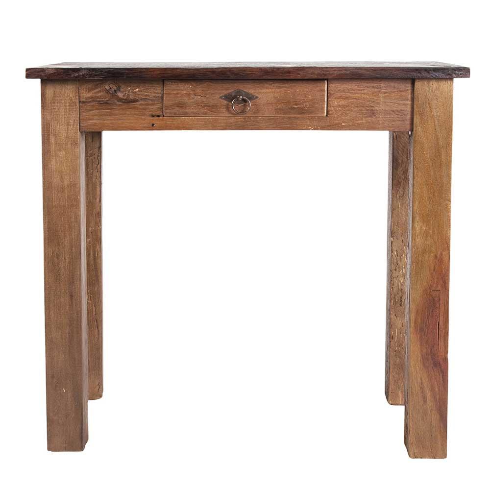 Telefontisch aus Teak Massivholz 80 cm | Flur & Diele > Telefontische | Teak - Massivholz - Recyclingholz - Massiv - Lackiert - Holz | Möbel Exclusive