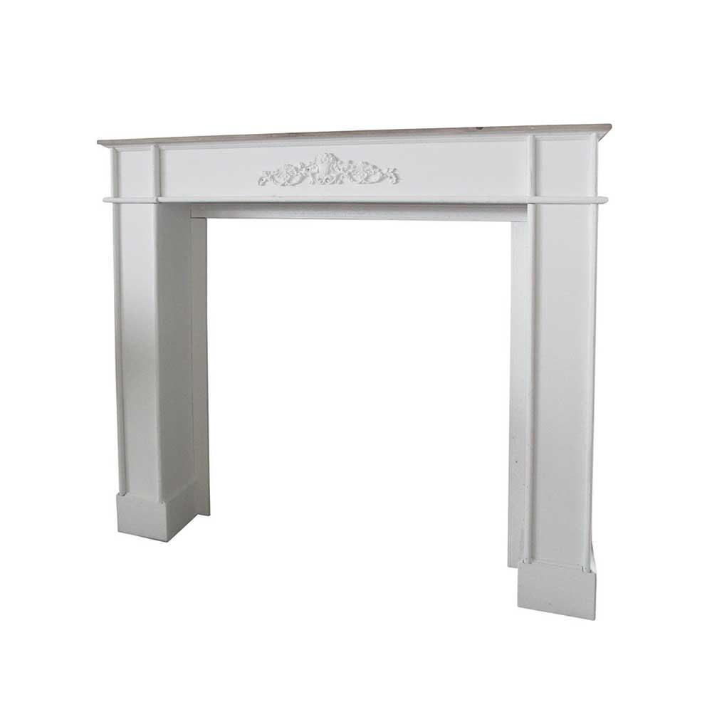 Kamin für Kerzen Weiß | Wohnzimmer > Kamine & Öfen > Kamine | Weiß | Massivholz | Doncosmo
