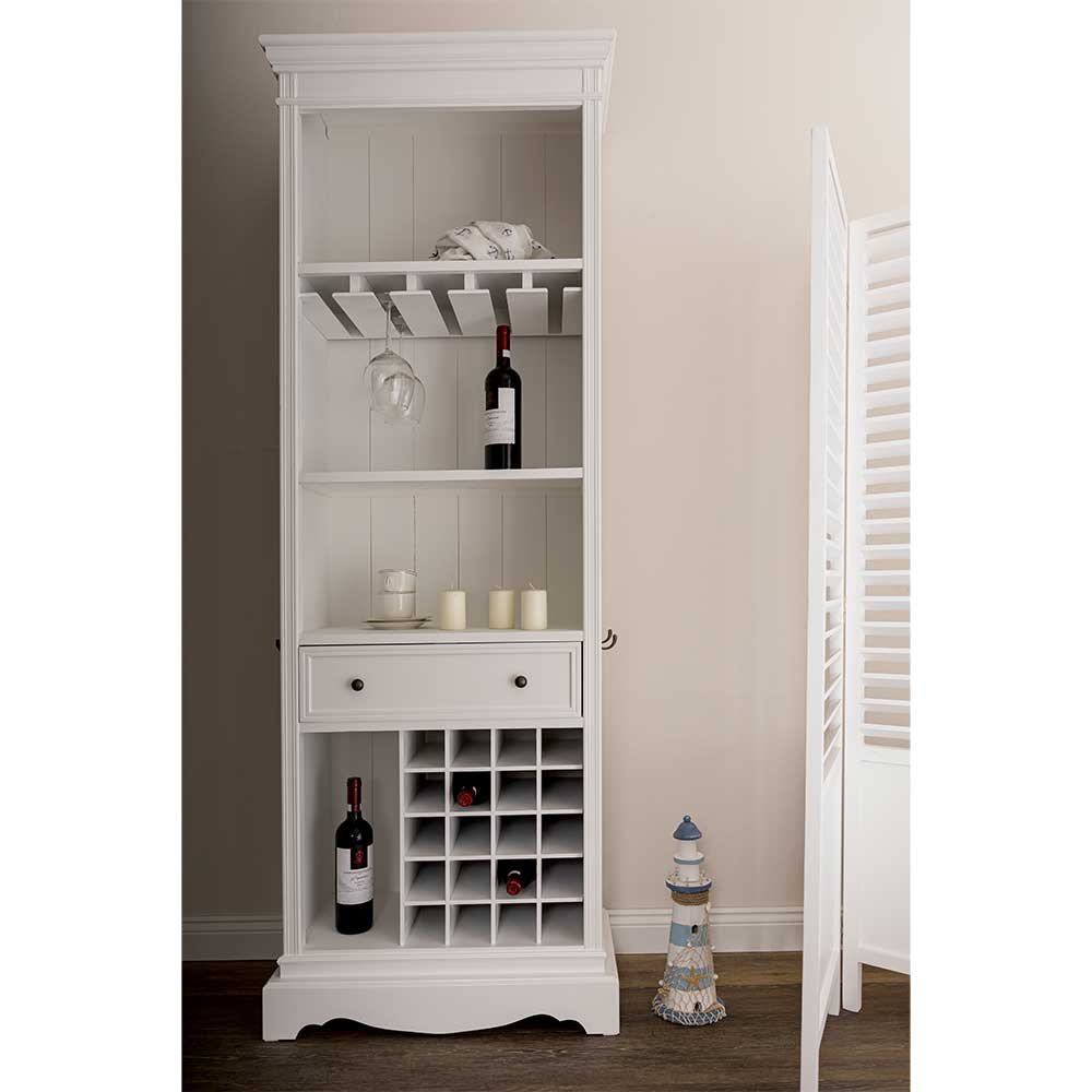 k chenregal in wei mit weinregal. Black Bedroom Furniture Sets. Home Design Ideas