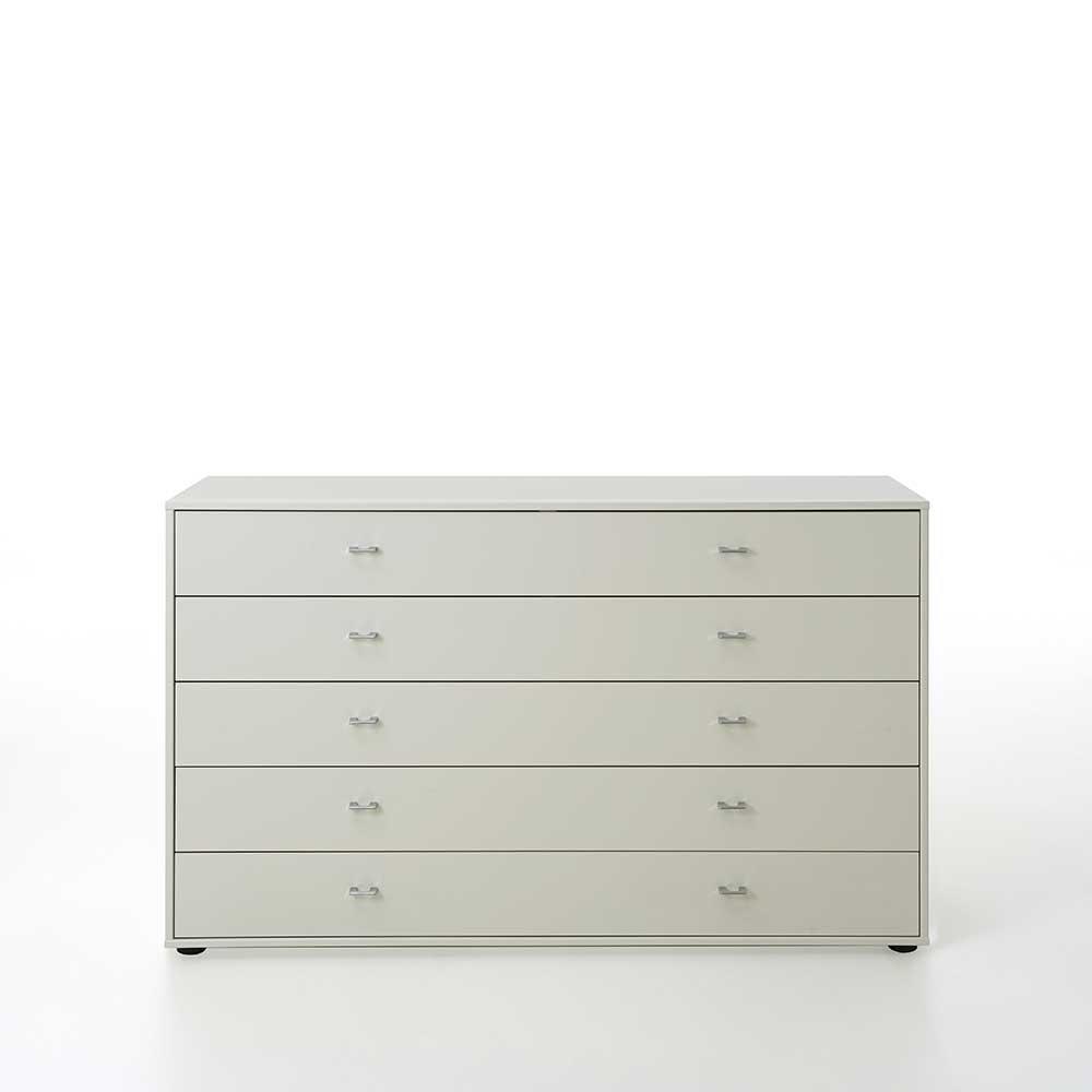 Sideboard mit Schubladen Weiß lackiert