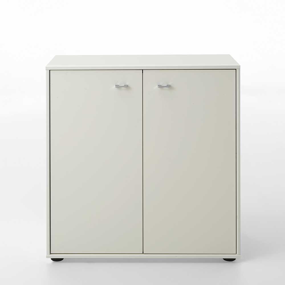 Türenkommode in Weiß lackiert 80 cm