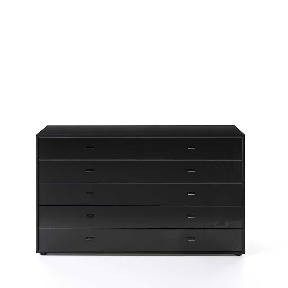 Schlafzimmer Sideboard mit Schubladen Schwarz