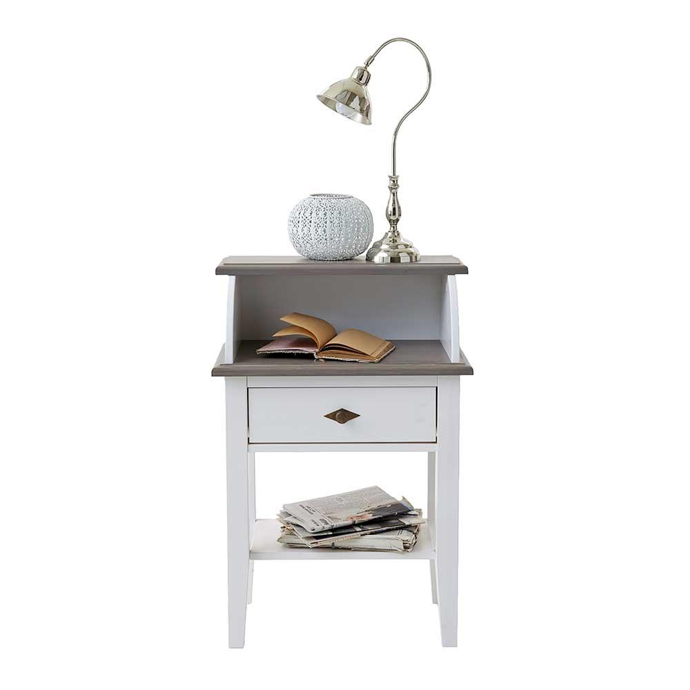 Telefontisch in Weiß Grau Landhaus | Flur & Diele > Telefontische | Life Meubles