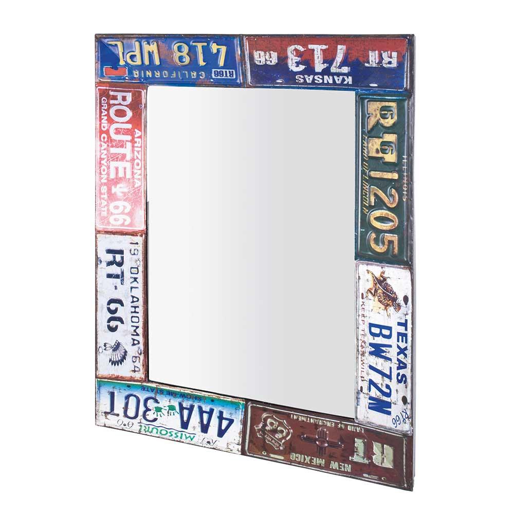 Design Spiegel in Bunt Metallrahmen