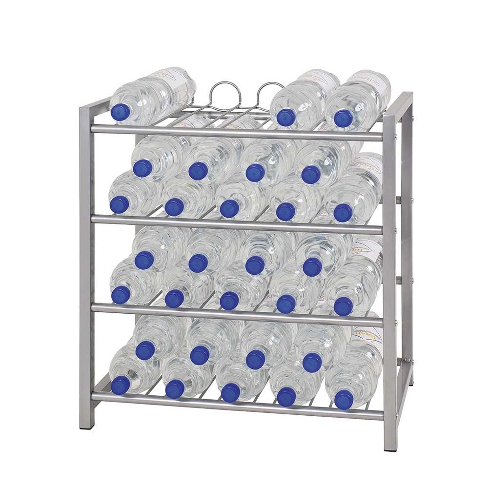 Küchen Flaschenregal aus Stahl online kaufen | Küche und Esszimmer > Küchenregale > Küchen-Standregale | Grau | Metall | Tollhaus