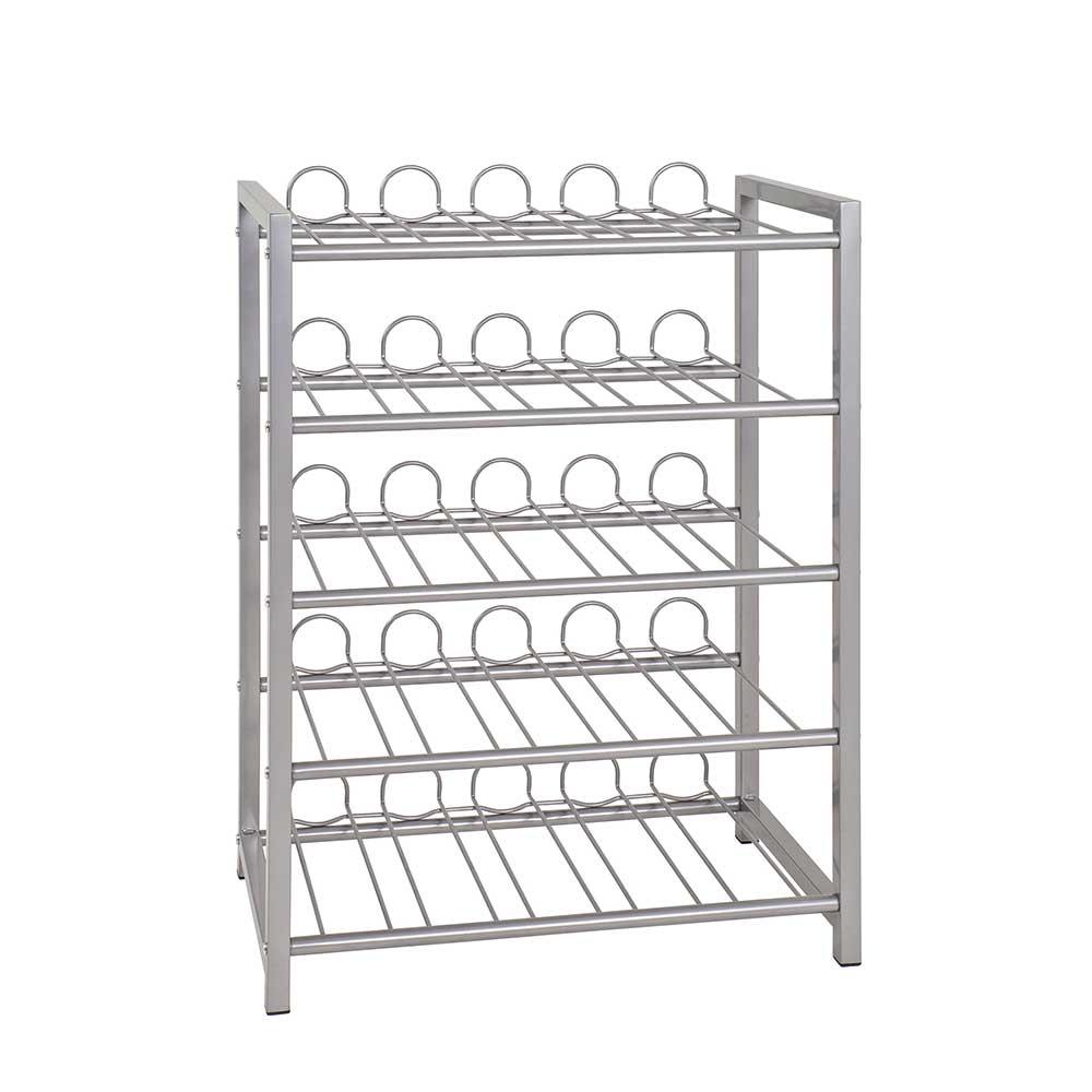 Flaschenregal aus Stahl für Küche | Küche und Esszimmer > Küchenregale | Tollhaus