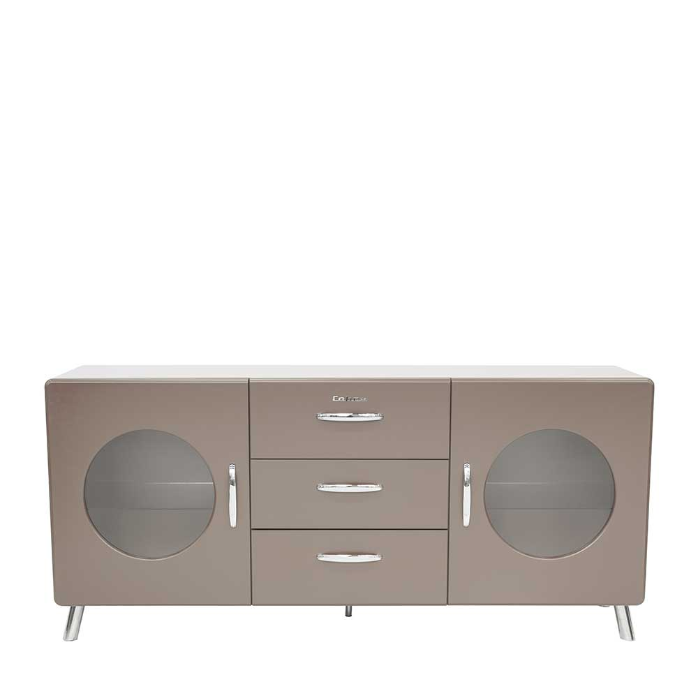 Design Sideboard in Grau lackiert Retro