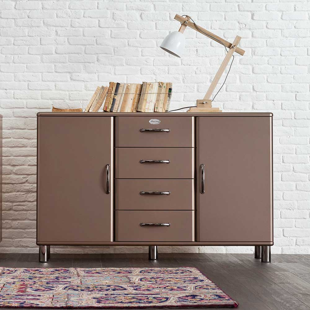 Design Sideboard in Bronze Braun Retro