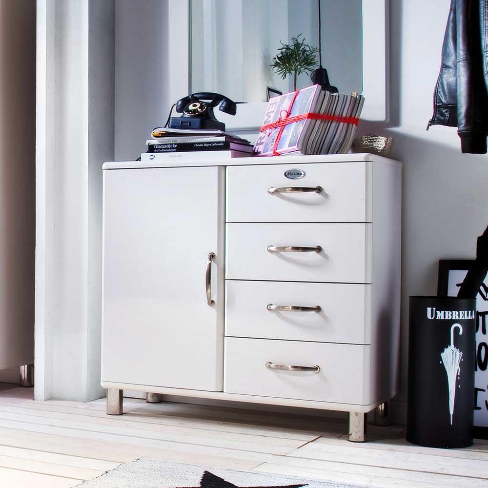 Retro Kommode in Weiß modern
