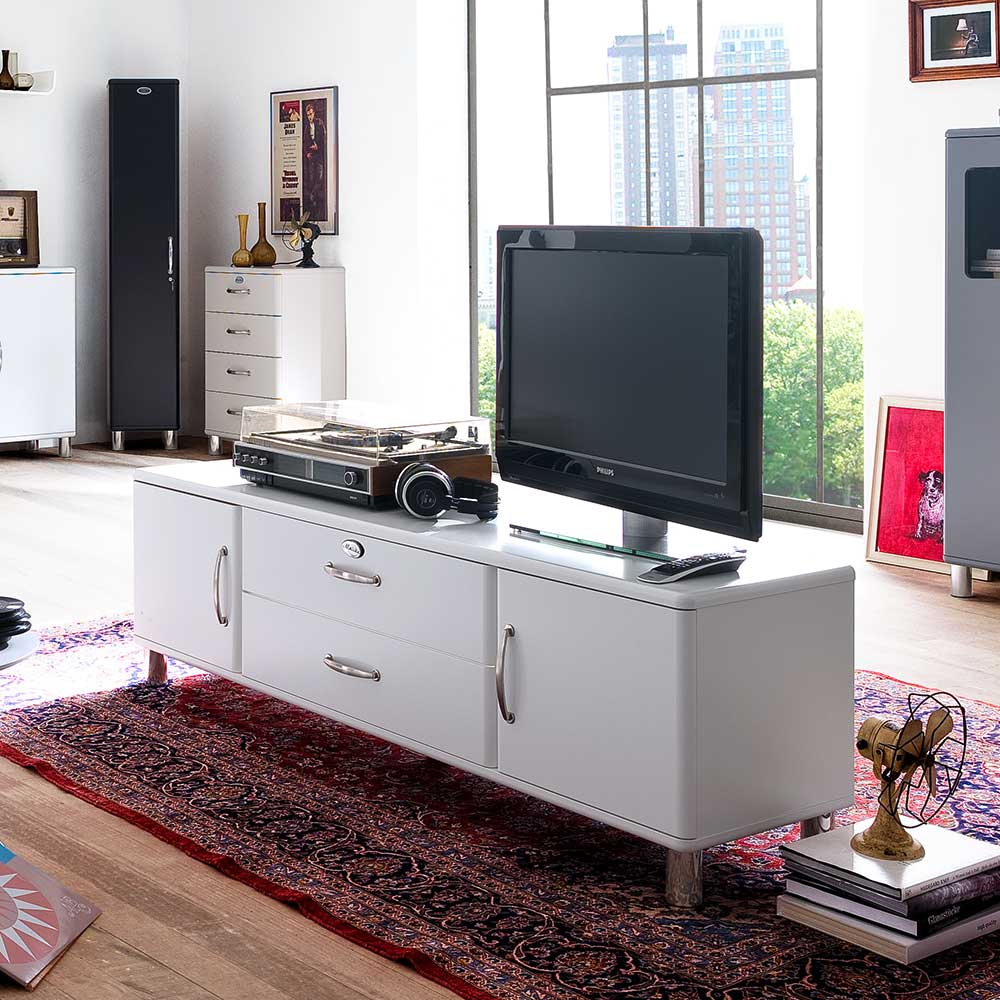 Retro Sideboard in Weiß modern