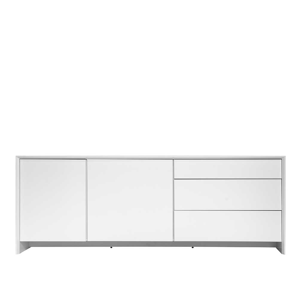 Design Sideboard in Weiß Grifflos