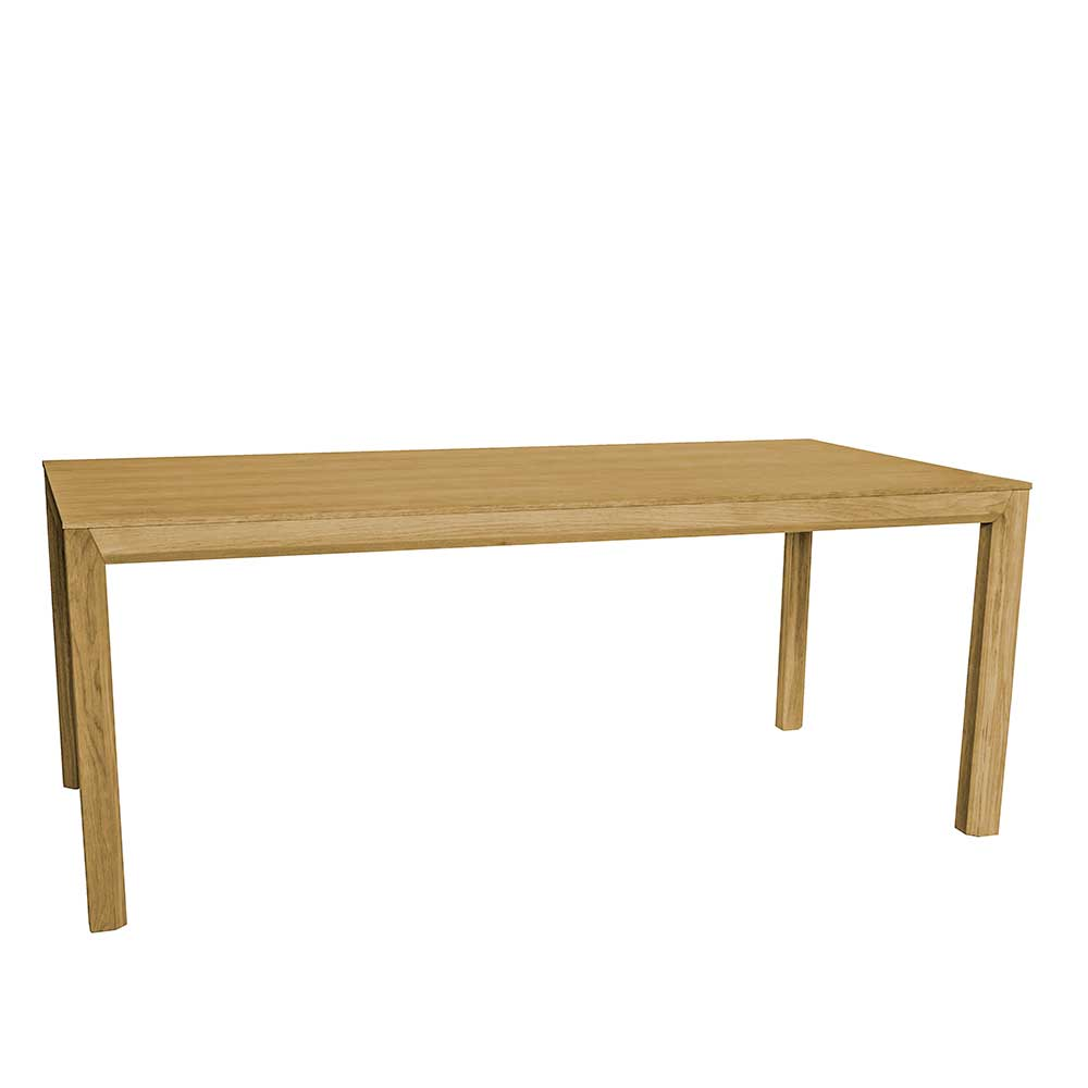 Esszimmertisch mit Eiche furniert 190 cm breit