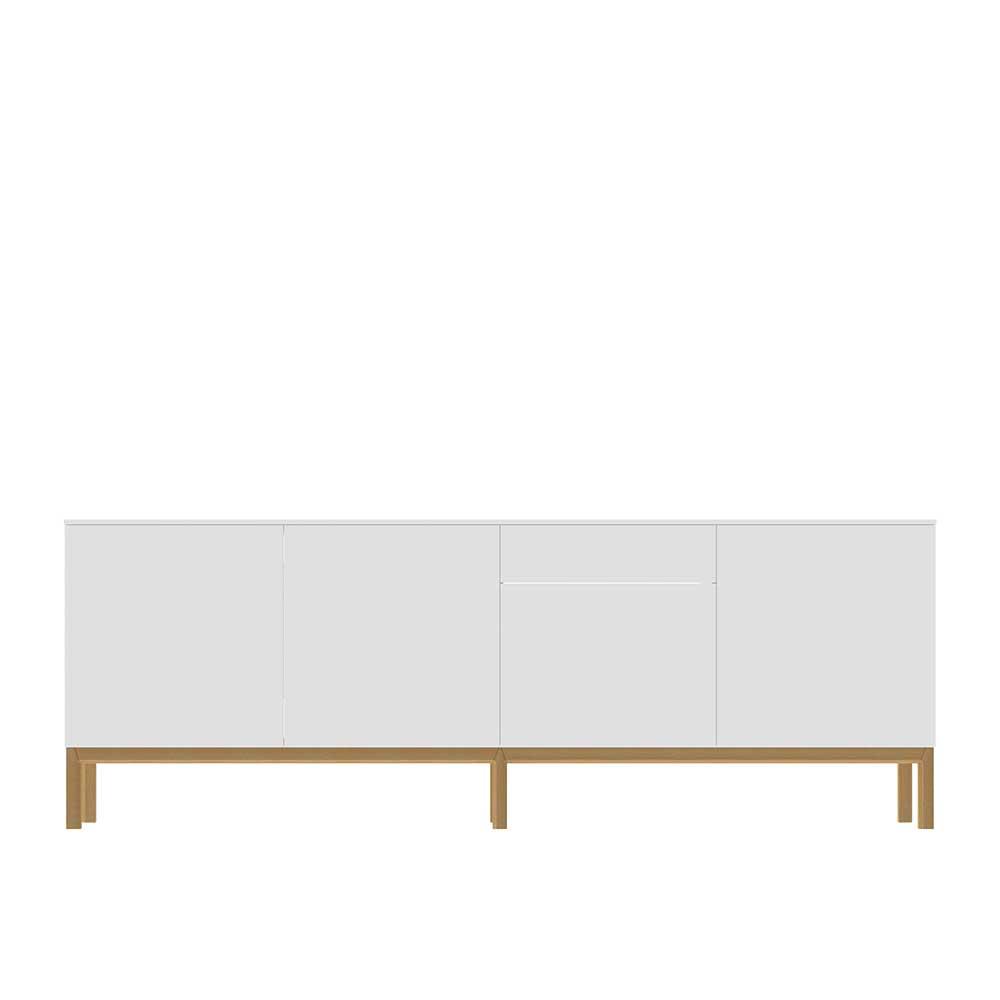 Esszimmer Sideboard in Weiß Eiche 240 cm