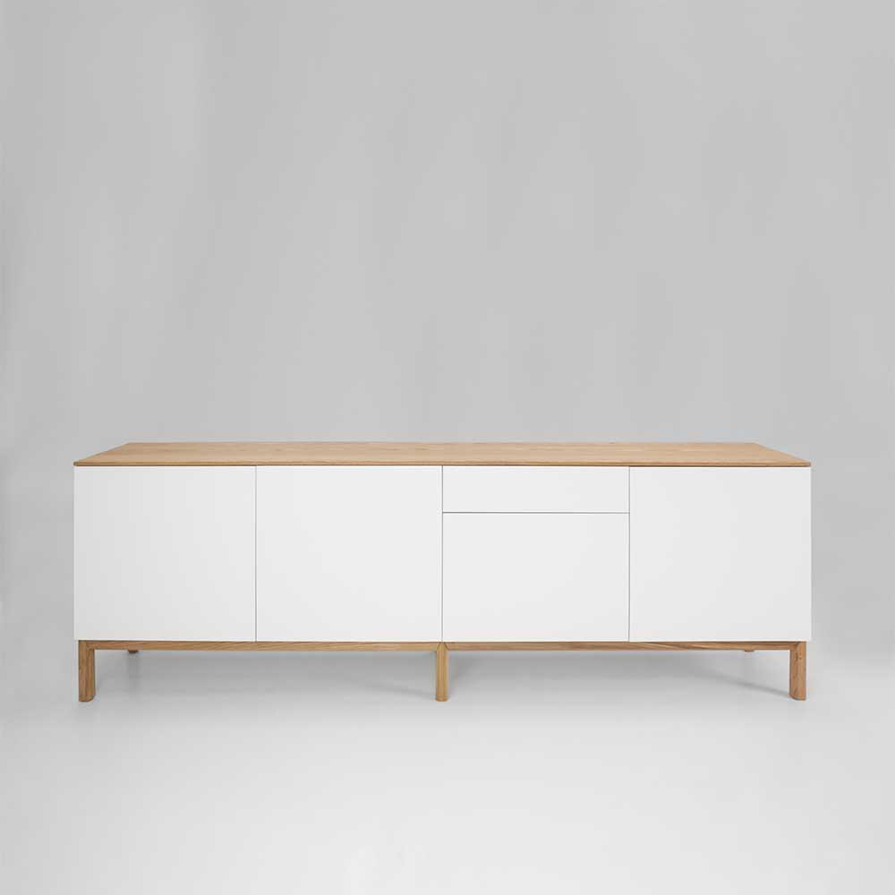 Sideboard in Weiß Eiche 240 cm