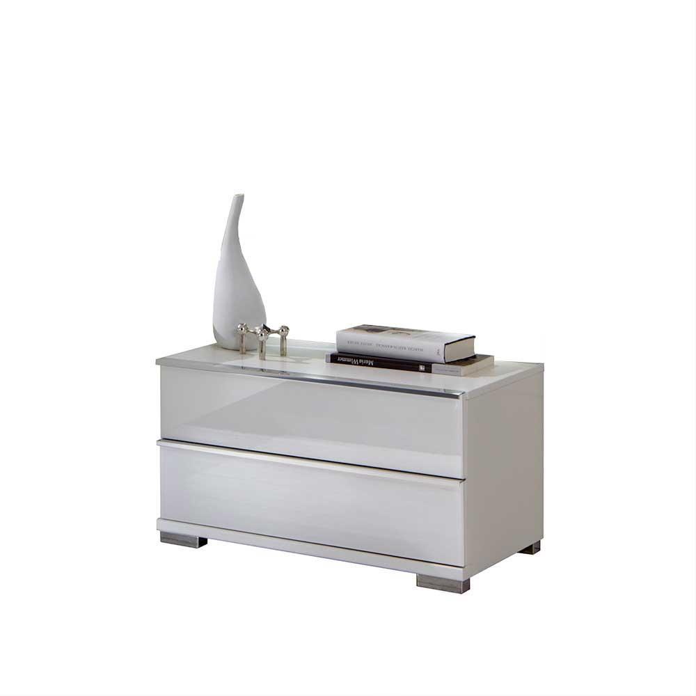 Nachtkommode in Weiß 60 cm