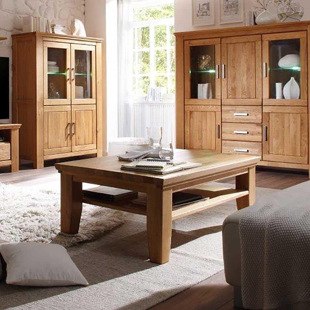 Wohnzimmer Couchtisch aus Wildeiche geölt Klassisch