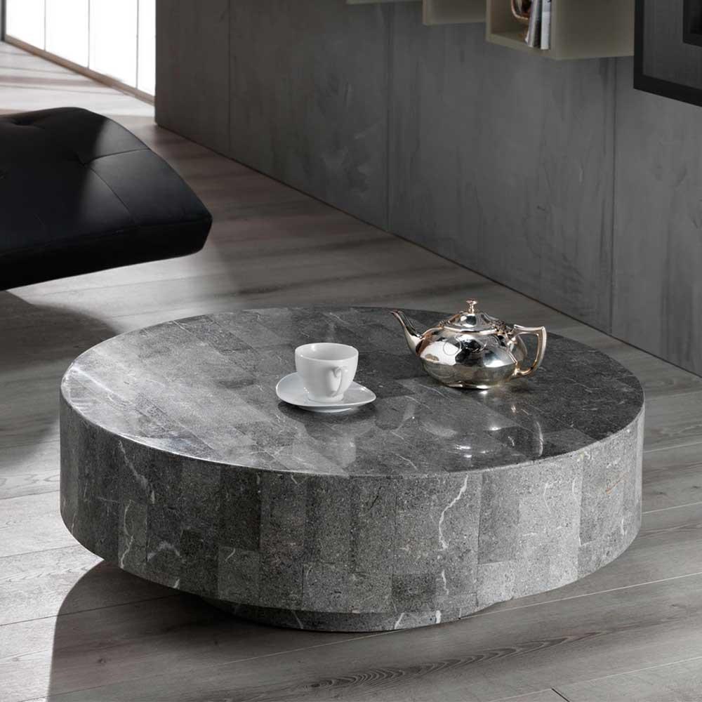 Design Couchtisch aus Stein Rund