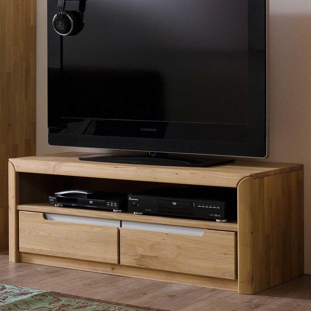 TV Board aus Wildeiche Bianco geölt und gewachst